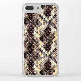 The pattern of snake skin. Clear iPhone Case