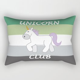 Aromantic Pride Flag Unicorn Rectangular Pillow