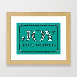 Catholic Christmas Card Joy to the World Framed Art Print