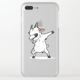 Funny Goat Dabbing Clear iPhone Case