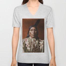 Little Hawk - Brulé - American Indian Unisex V-Neck