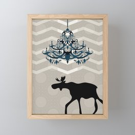 A Moose finds home Framed Mini Art Print