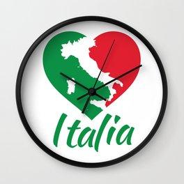 Italia Heart - I Love Italy Wall Clock