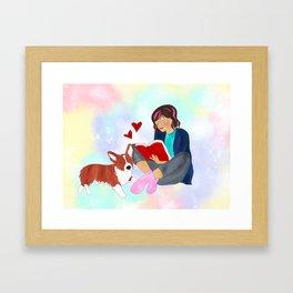 Book Girl Framed Art Print