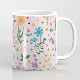 Spring Garden Tossed Pattern Coffee Mug