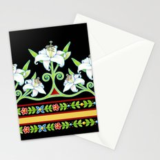 Elizabethan Lily Folkloric Stripe Stationery Cards
