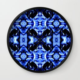 Blue Black  Fantasy Pattern Wall Clock