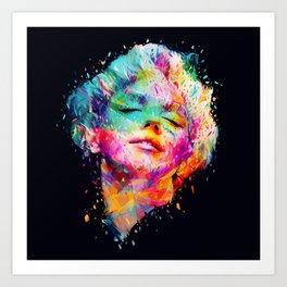 Marilyn portrait Art Print