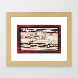 Traffic Hugs Framed Art Print