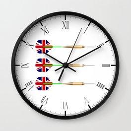 UK Darts Wall Clock