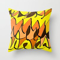 charlie brown Throw Pillows featuring CHARLIE BROWN by ..........