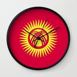 Kyrgyzstan flag emblem Wall Clock