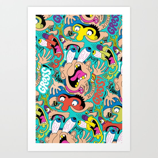 Weird Pattern Art Print