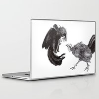 cock Laptop & iPad Skins featuring Cock Fight by Kayla Lane Burdon