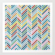 Herringbone Colour Zoom Art Print