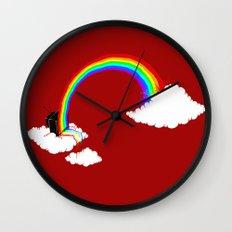 Rainbow TV Wall Clock