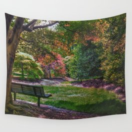 The Park Bench Wall Tapestry