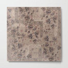 """Tapestry Floral- Colorway """"A"""" Metal Print"""