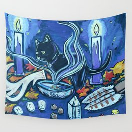 Black Cats Alter Wall Tapestry