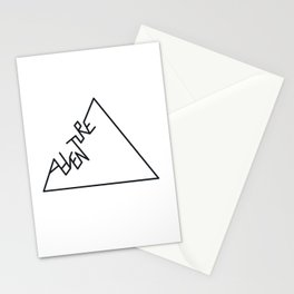 Black and white Adventure typography Stationery Cards