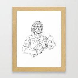 Loglady log Framed Art Print