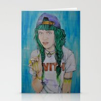 grimes Stationery Cards featuring Grimes by Jenn