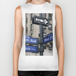 New York City Street Names Biker Tank