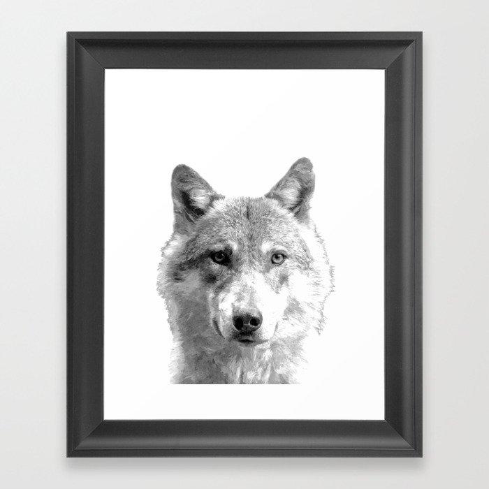 Gemütlich Framed Wolf Pictures Ideen - Benutzerdefinierte ...
