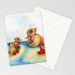 Snozzleberrymama and her ducklings Stationery Cards
