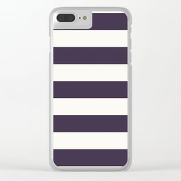 summer beach coastal nautical french fashion navy blue stripes Clear iPhone Case