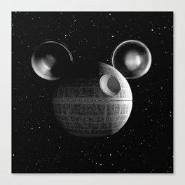 That's no moon... Disney Death Star Canvas Print