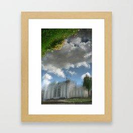 Dublin Grand Canal Reflections Framed Art Print