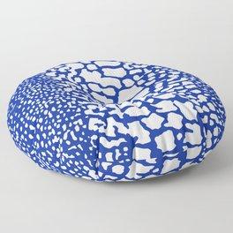 ANIMAL PRINT SNAKE SKIN BLUE AND WHITE PATTERN Floor Pillow