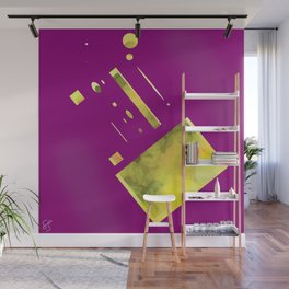 purple yellow Wall Mural