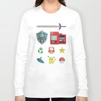 video games Long Sleeve T-shirts featuring video games by Black