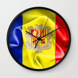 Andorra Flag Wall Clock