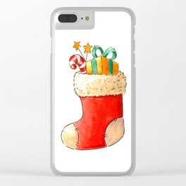 Santa's stocking Clear iPhone Case