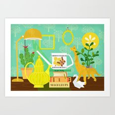 Still life in yellow Art Print