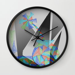 triangle flower Wall Clock