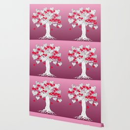 tree of love with hearts Wallpaper