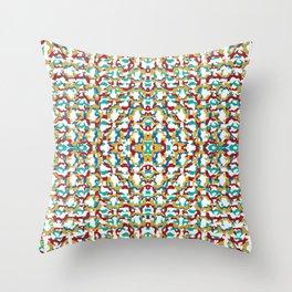 fox circles Throw Pillow