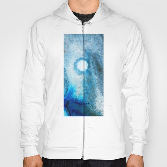 Abstract Landscape Art - Blue Moon - By Sharon Cummings  Hoody