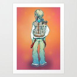 Station Gal Art Print
