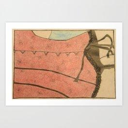 Corset and Ribbons Art Print