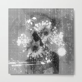 Madame Louisa - schwarz-weiß Metal Print
