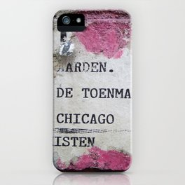 Urban poetry iPhone Case