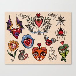 hearts and more hearts Canvas Print