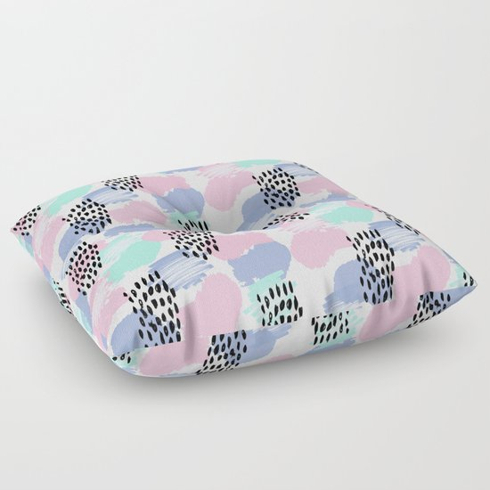 Floor Pillows For Nursery : Pastel painted pattern minimal mint and pink nursery home decor patterns Floor Pillow by ...