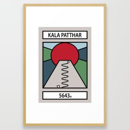 Kala Patthar Framed Art Print