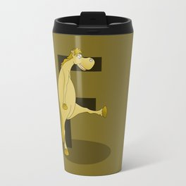 Pony Monogram Letter F Travel Mug